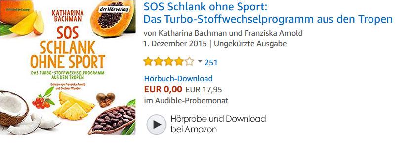 Hörbuch: SOS Schlank ohne Sport